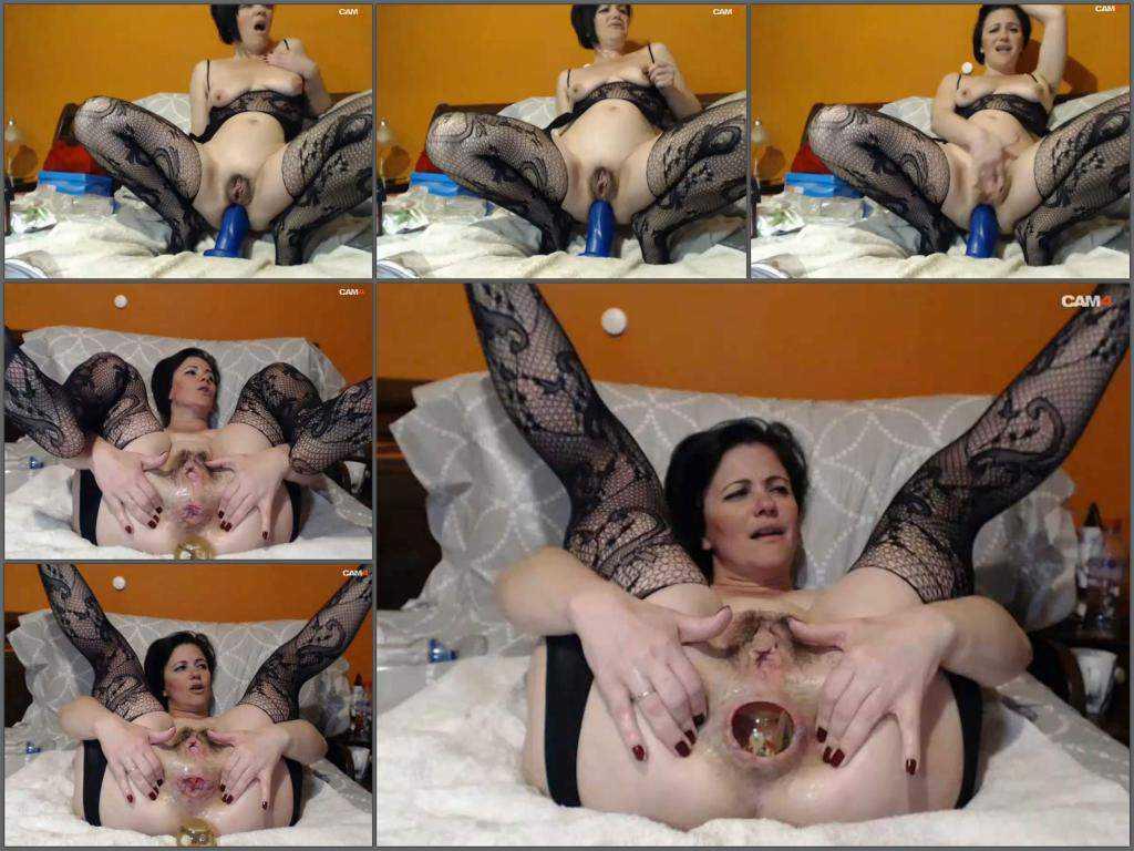 Mature anal – Webcam Kinkyvivian anal rosebutt loose with ball and huge rubber dildo