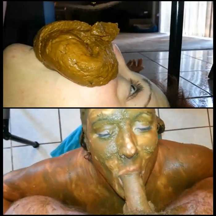 Human toilet slave scat smearing