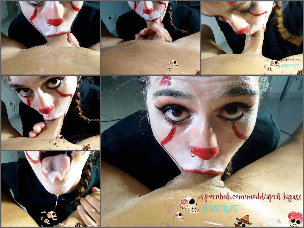 Halloween blowjob – IT clown April Bigass exciting POV blowjob special for Halloween