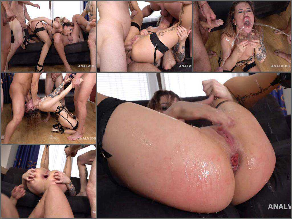 Monika Wild – Monika Wild gets peeing and gangbang DAP domination