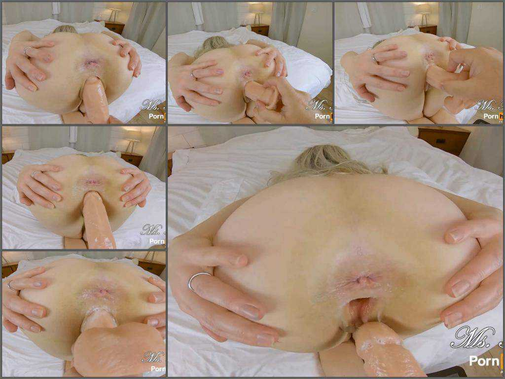 Amateur – Big ass blonde pornstar Ms Fine POV gets dildo in her gaping pussy
