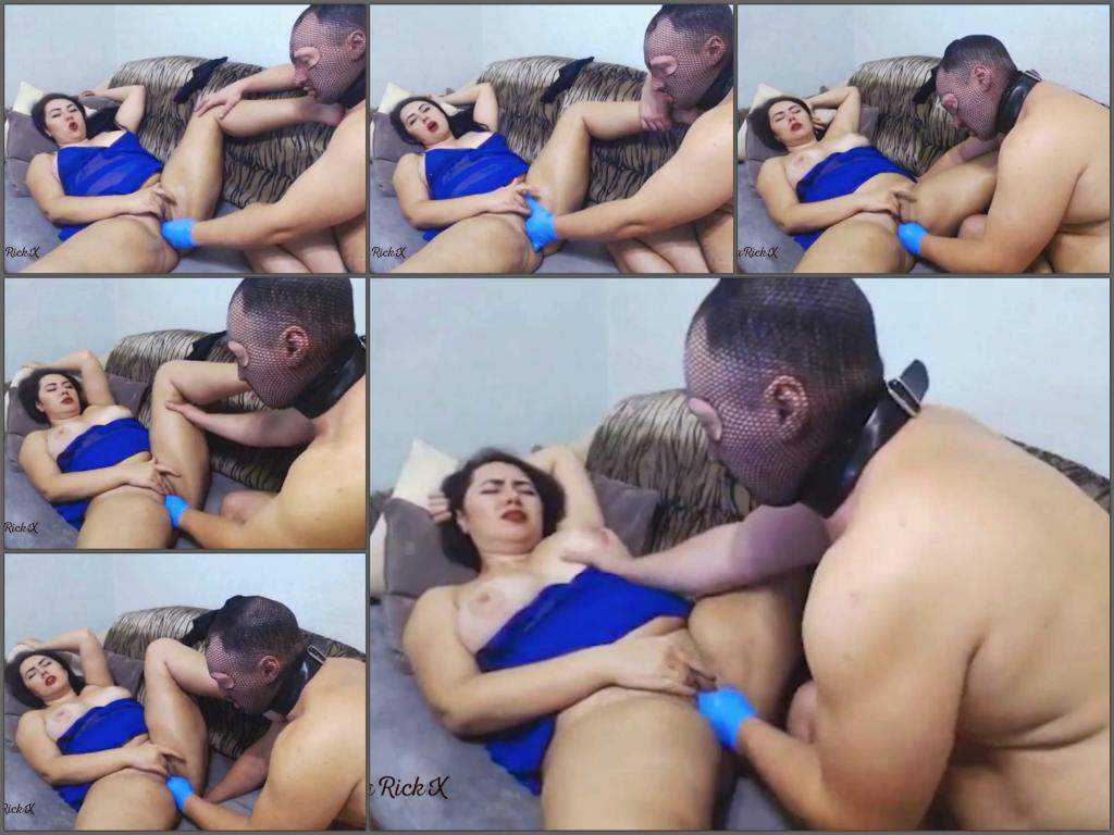 Pussy insertion – Masked male fisting domination his fatty russian wife NataliaRichX