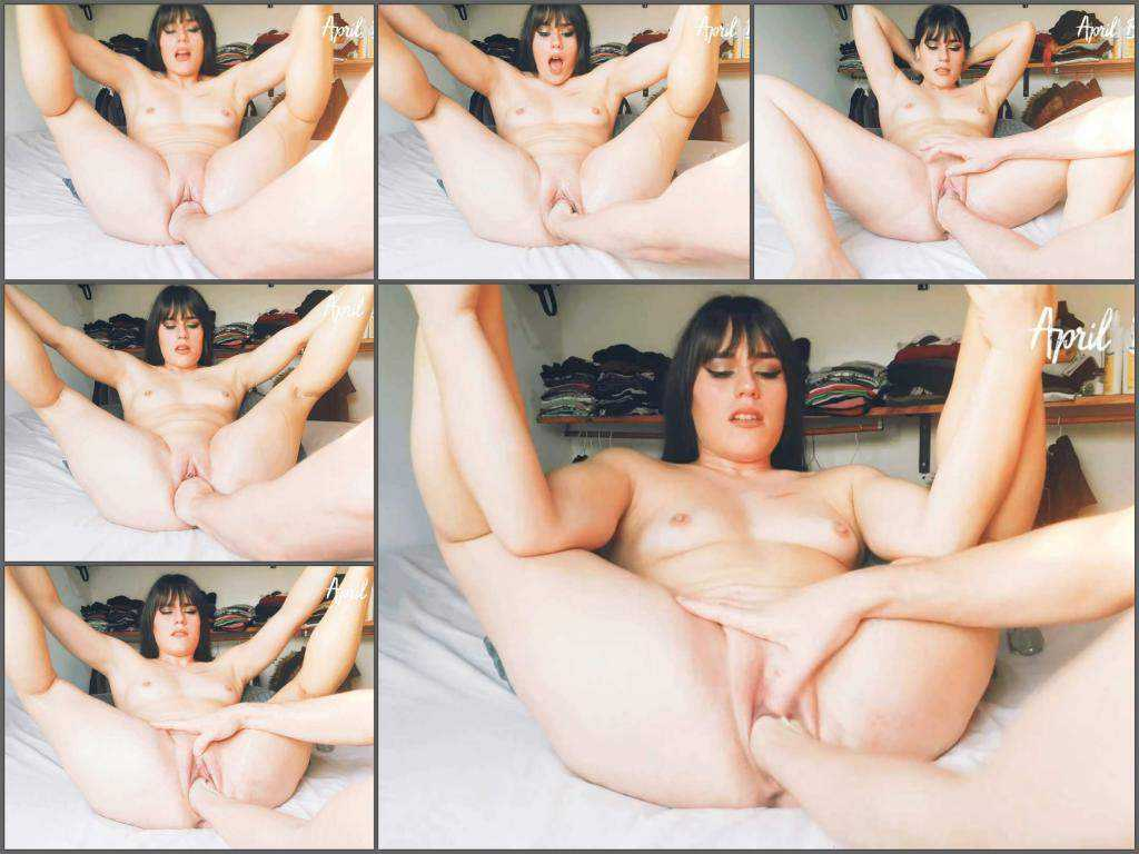 April Bigass 2020,April Bigass deep fisting,fisting video,hot fisting sex,fisting sex,pussy stretching,vaginal stretching,brunette with big ass,couple try fisting