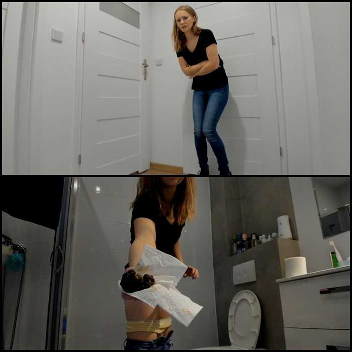 Desperation under the bathroom and poop with LucyBelle | Full HD 1080p | Jan 07, 2021