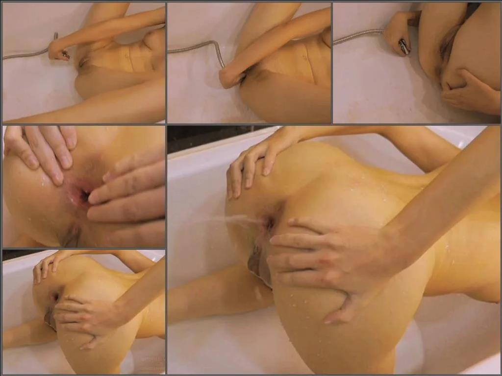 Gaping asshole – Amateur HD water enema self domination in bathroom with Ivylopez
