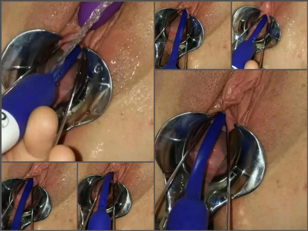 Pussy insertion – Amateur wife Urethral_play POV speculum examination and urethral sounding