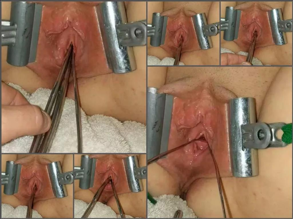Close up – Hot girl Urethral_play penetration triple sticks in her peehole