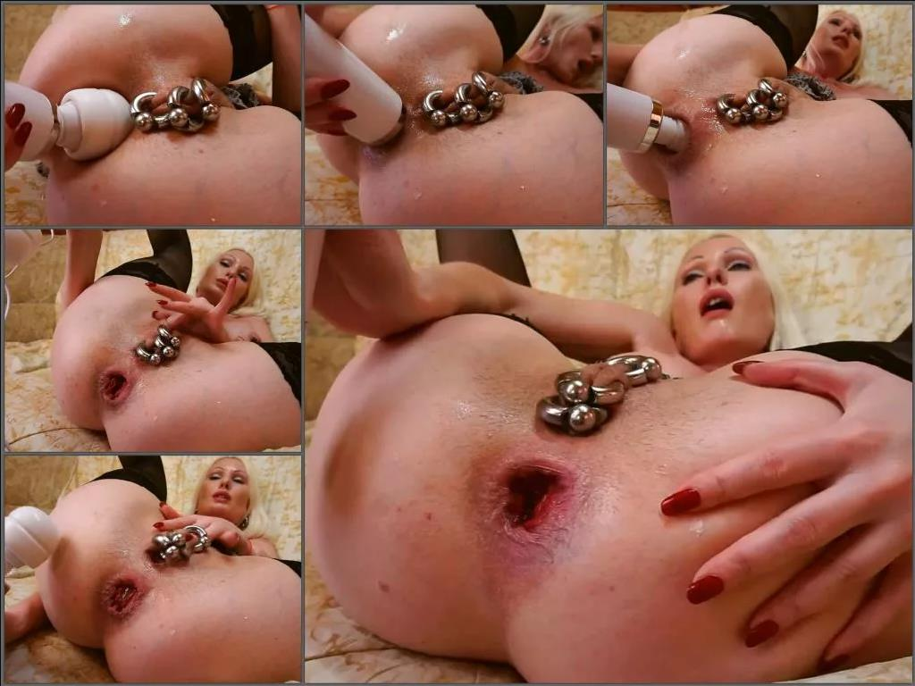 Hitachi magic wand – Russian blonde jennysimpson with piercing labia show sweet big anal gape and rosebutt