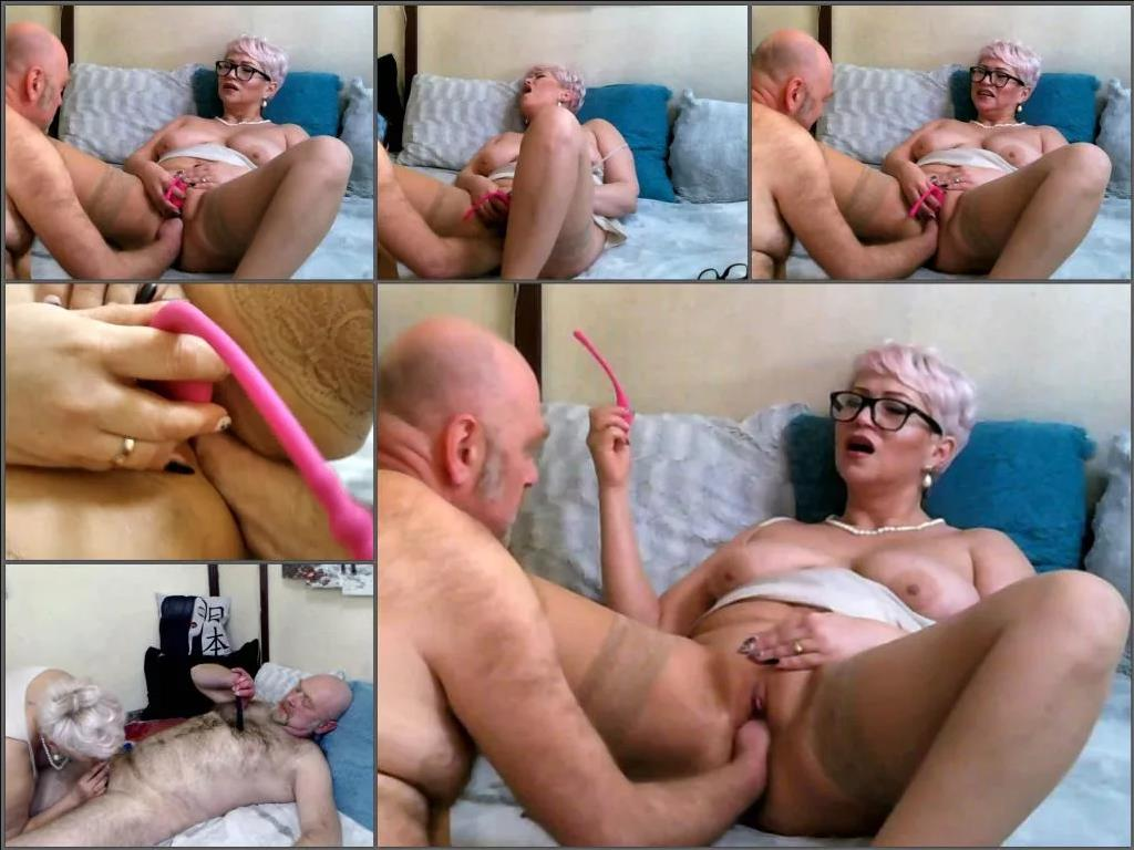 Mature fisting – Sexy russian MILF_AimeeParadise enjoy fisting sex with bald old husband