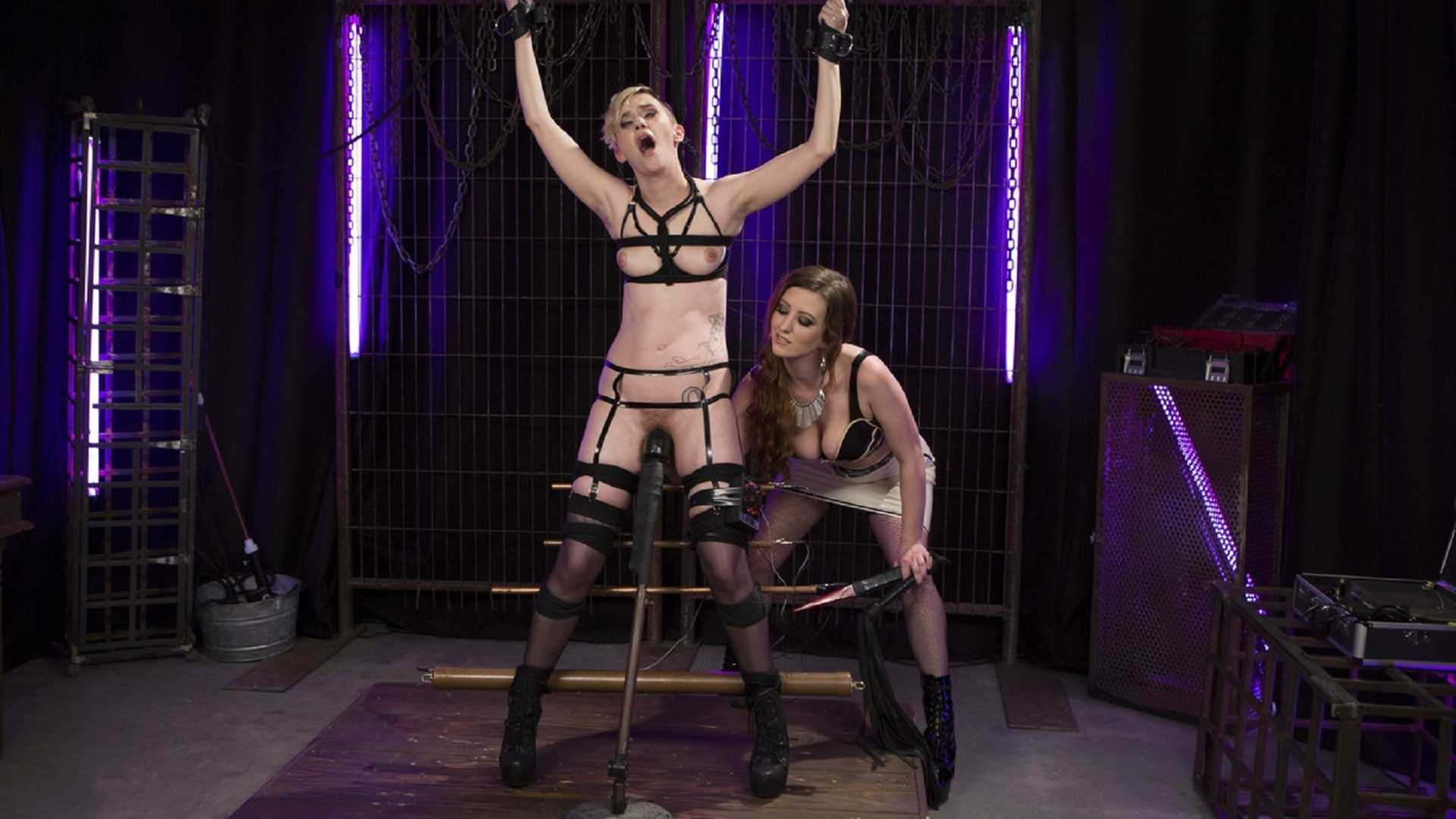 Cherry Torn Trains New Lesbian Electro-Slave – Cherry Torn, Mercy West   HD 720p   April 20, 2017
