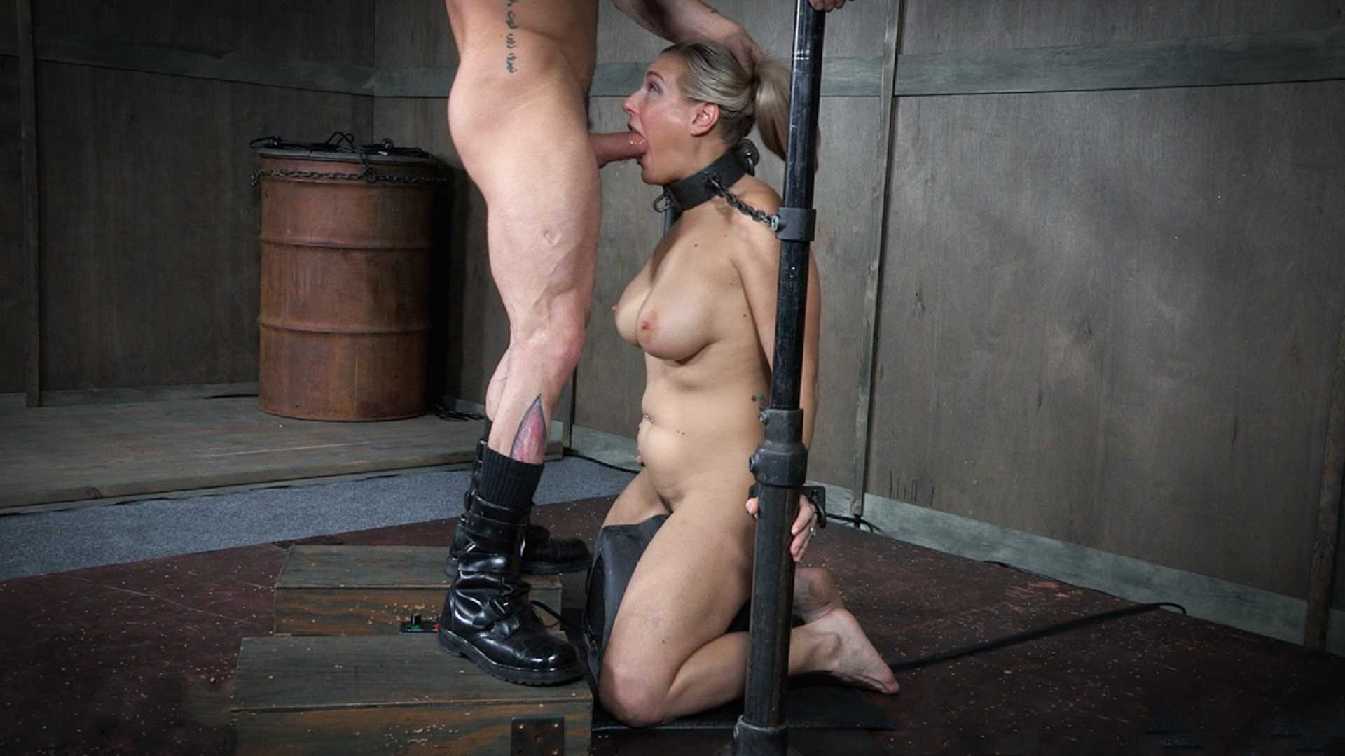 Angel Allwood is neck bound on a Sybian and throat fucked while violently cumming over and over   Angel Allwood   Sergeant Miles   HD 720p   April 19, 2017