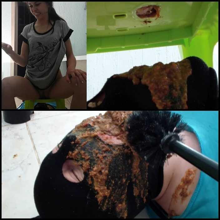 Toilet slave eats Alina's morning diarrhea – PooAlina | Full HD 1080p | Release Date: June 5, 2017