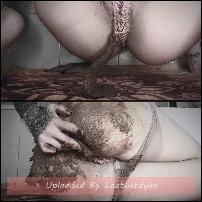 Pantypooping, with SCAT play | Full HD 1080p | Aug 28, 2018