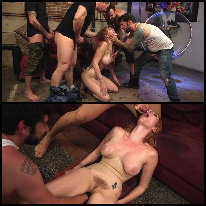 All Natural Redhead Lauren Phillips gets Double Anal from a Gang Bang | HD 720P | Release Year: Sep 6, 2017